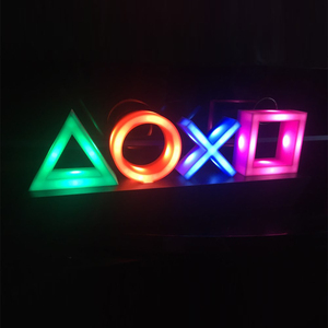 Voice Control Game Icon Light Acrylic Atmosphere Neon Dimmable Bar Atmosphere Lampara Club KTV Decorative Light Dropshipping(China)