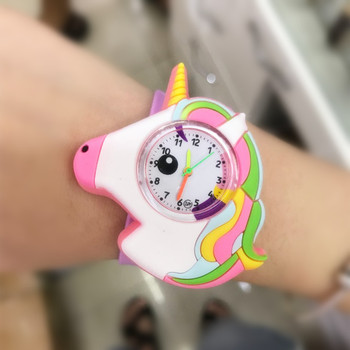 2020 Hot unicorn Watch Children Birthday Gifts Unicorn Watch Girl Boy Child Clock Students Sports Quartz Kids Watches 1