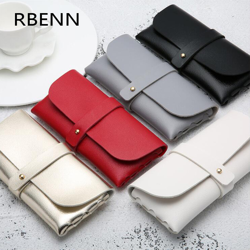 RBENN Fashion Hot Sale Portable Glasses Case Magnetic PU Leather Foldable Glasses Box For Eyeglass Oversized Sunglasses(China)