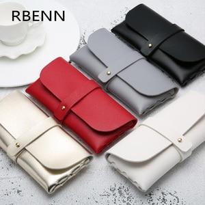 RBENN Fashion Hot Sale Portable Glasses Case Magnetic PU Leather Foldable Glasses Box For Eyeglass Oversized Sunglasses(China)