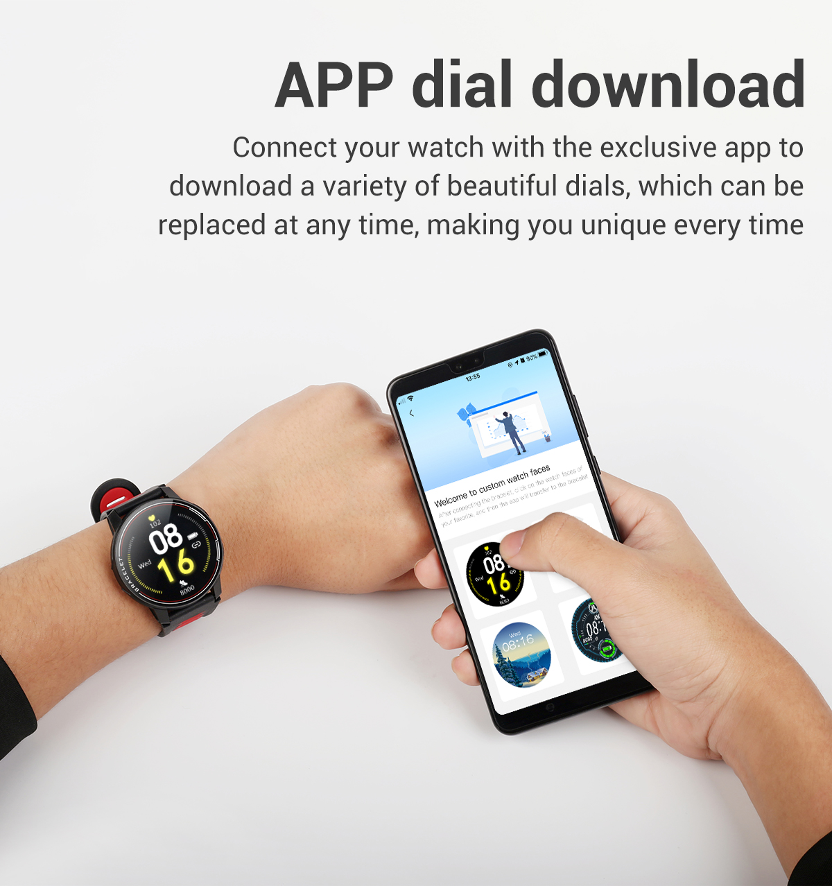 H73dc2ed7e23e46699022e326993991aaG 2020 New L6 Smart Watch IP68 Waterproof Sport Men Women Bluetooth Smartwatch Fitness Tracker Heart Rate Monitor For Android IOS