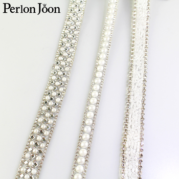 1 yard white pearl rhinestone hot fix tape ribbon glass crystal rhinestone decoration iron on shoes clothing accessories TR020 1 yard wide crystal clear rhinestone trim sew on rhinestone chain iron glue on hot fix rhinestones diy shoes clothing decoration