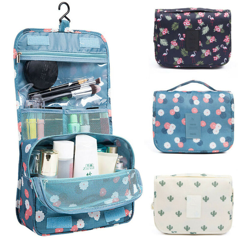 Hanging Toiletry Bag Travel Cosmetic Kit Large Essentials Organizer Waterproof Toiletry Wash Case Storage Make Up Pouch