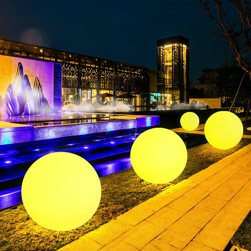 LED Outdoor Holiday Lighting Ball Lights Waterproof RGB Luminous Lawn Lamps Remote Control Floating Pool Wedding Party Ball Lamp