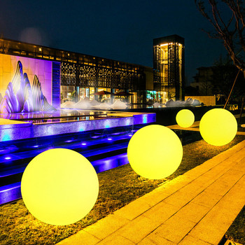 LED Outdoor Holiday Lighting Ball Lights Waterproof RGB Luminous Lawn Lamps Remote Control Floating Pool Wedding Party Ball Lamp luminous decoration wedding party column lamp colorful colonne lumineuse of tower landscape lighting