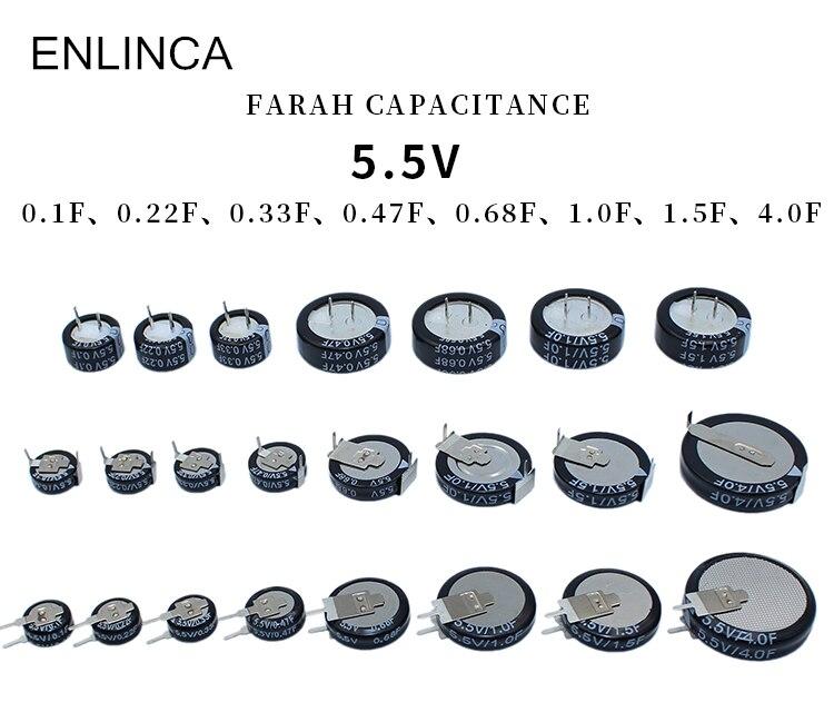 Оригинальный супер фарад конденсатор 5,5 V 0.22F 0.33F 0.47F 0.68F 1F 1.5F 4F c тип v тип h тип конденсатор H C V стиль Ultracapacitor|Конденсаторы|   | АлиЭкспресс