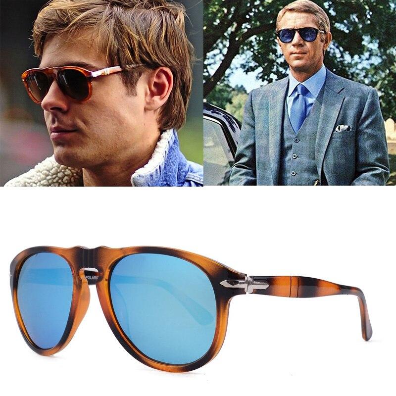 Мужские солнцезащитные очки для вождения, классические винтажные поляризационные очки в стиле пилота Стива, модель 007, 2020