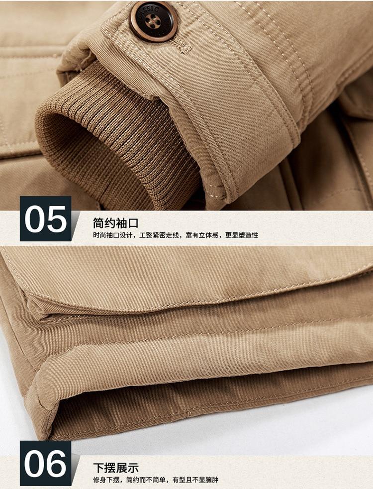 daiwa jaqueta de lã dos homens engrossar
