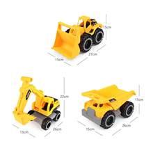 Novos grandes carros de brinquedo, veículos de construção, escavadoras, caminhões de areia, bulldozers, fricção-driven crianças empurrar brinquedos presentes
