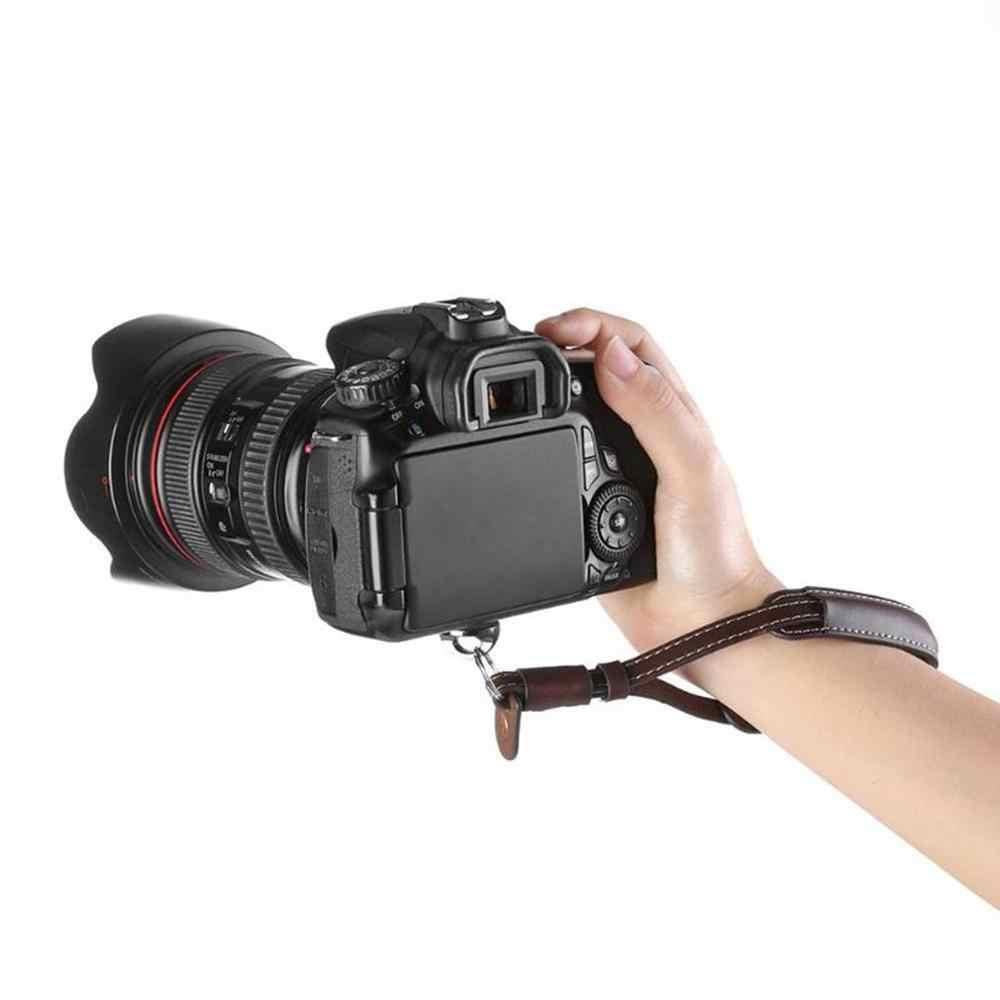 Correa de muñeca cuerda de cuero PU para DJI Osmo móvil 2 Zhiyun cardán de mano suave con tornillo 1/4 para DSLR cámara