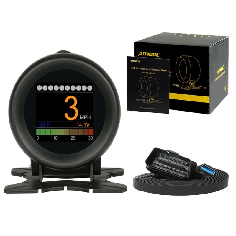 AUTOOL X60 Head Up Display Car On-board Computer Hud Obd2 Ii Car Engine Code Reader Digital Meter Speedometer Diagnostic Tool