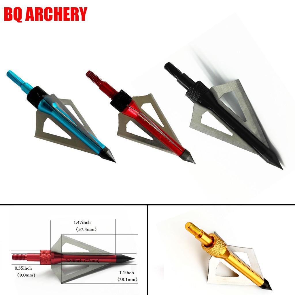 1PCS Archery Hunting Broadheads 100 Grain 3 Blade Broad Screw Tips Arrow Heads For Shooting Training Arrowhead Hunting