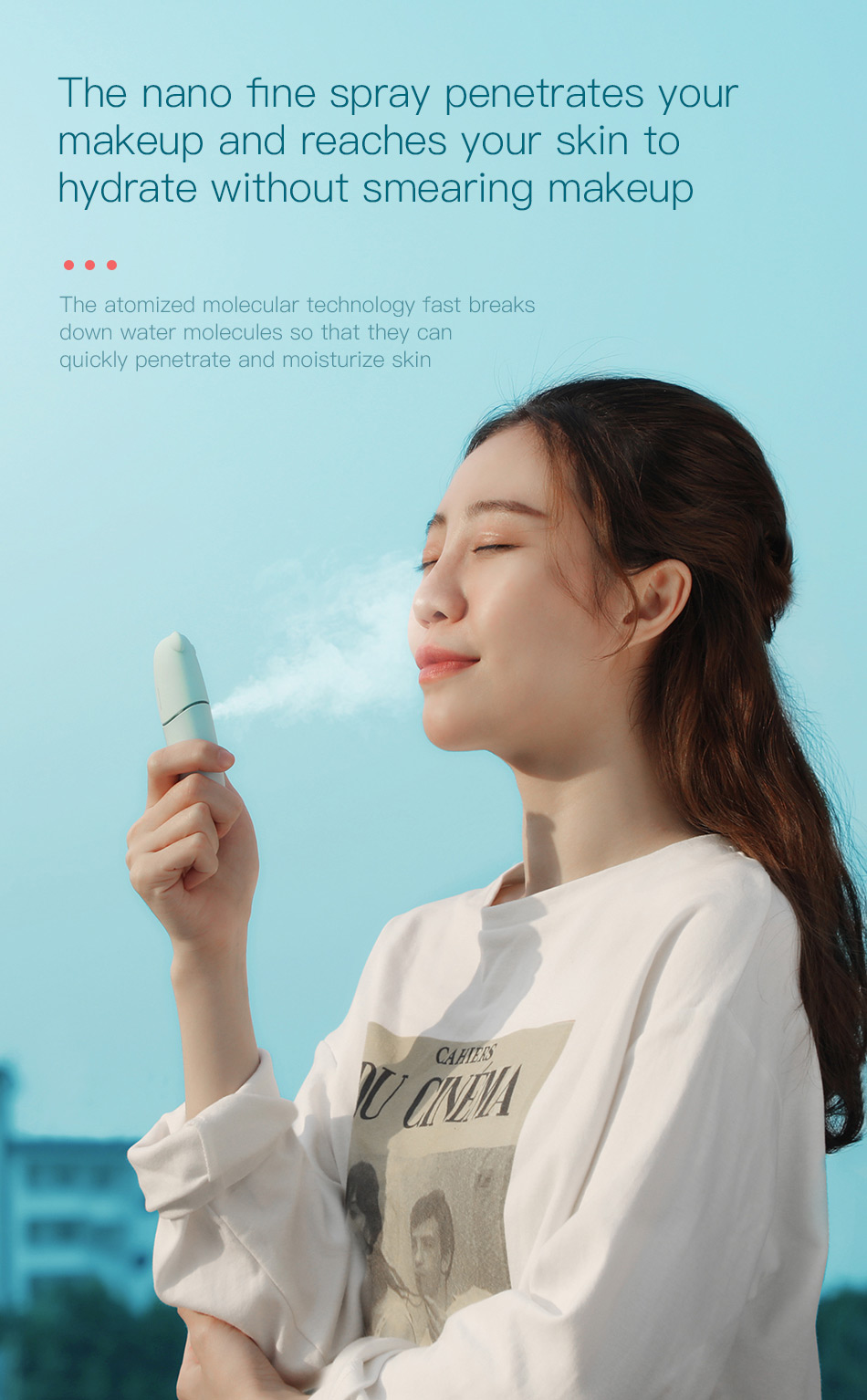 Baseus Portable Mist Sprayer Facial Body Nebulizer Steamer