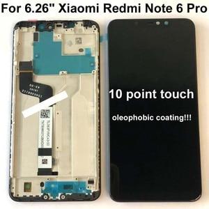 Image 3 - オリジナル 6.26 xiaomi redmi 注 6 プログローバル lcd の表示画面アセンブリデジタイザタッチスクリーン部品 + 10 ポイント + フレーム