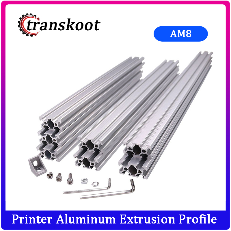 AM8 3d принтер Алюминиевый металлический экструзионный профиль рамка с гайками винтовой кронштейн угловой для Anet A8 14