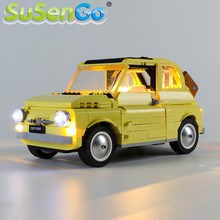 SuSenGo LED Light kit For Creator Fiat 500 Car Toys Building Blocks Lighting Set Compatible with 10271 (Model Not Included)