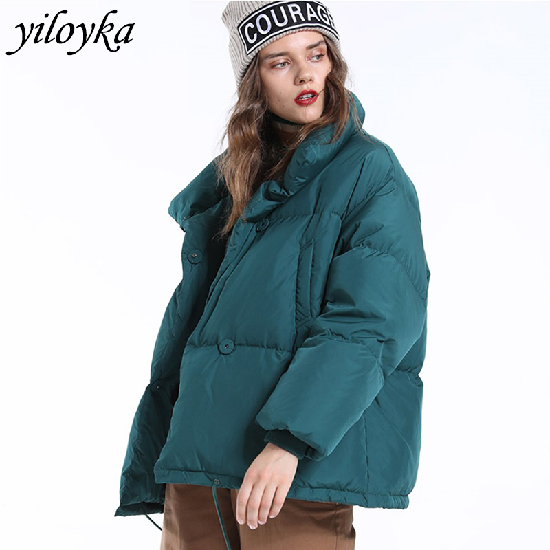 Autumn Winter Jacket Women   Parkas   Mujer 2019 Fashion Coat Loose Stand Collar Jacket Women   Parka   Warm Casual Plus Size Overcoat