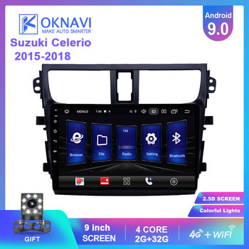 OKNAVI 2din Android9.0 Car Multimedia Stereo For Suzuki-Celerio 2015 2016 2017 2018 Car Radio GPS Navigation 4G Player No DVD image