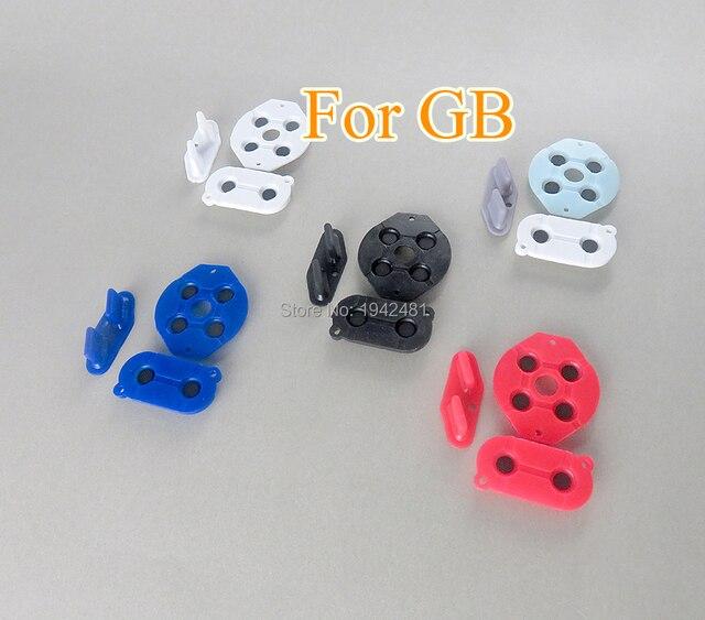 60 zestawów/partia gumowe przyciski przewodzące A B d pad dla Game Boy klasyczny GB silikonowy Start wybierz klawiaturę
