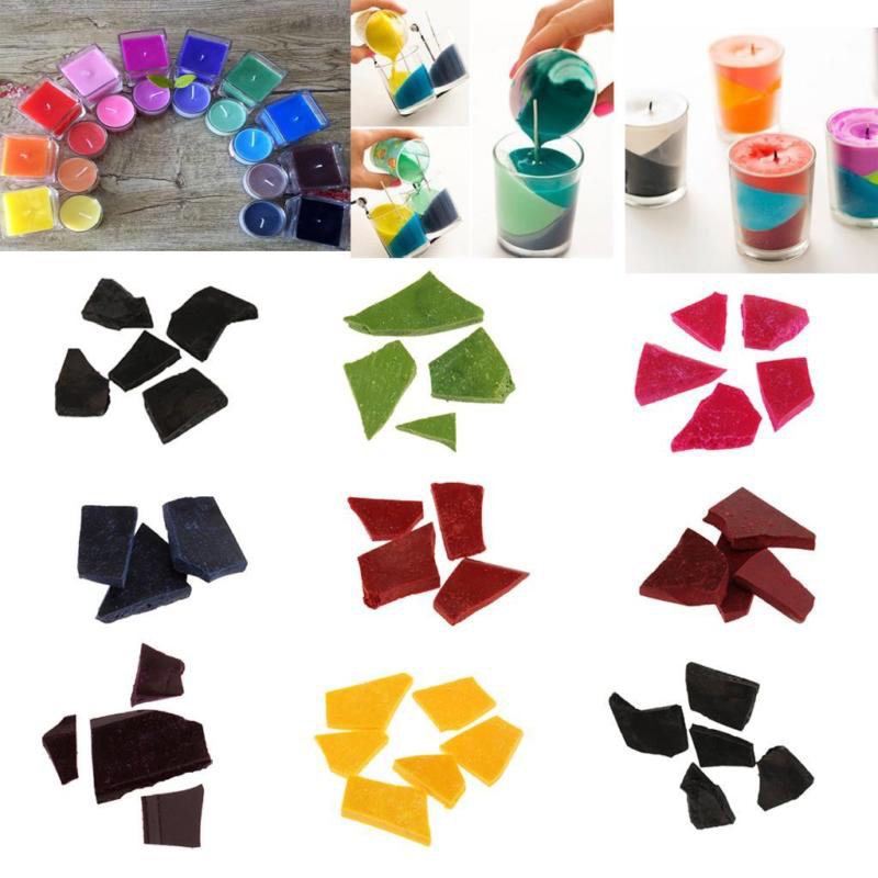 10 Pcs Multi Color Wax Dye  DIY Candle Soy Wax Candle Making Supplies Paraffin Slices Flakes For Craft Arts Craft Sewing
