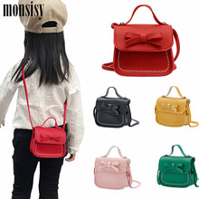 Monsisy/ г. Сумка для монетного кошелька Детский кошелек маленькая сумка для монет милый бант, Детская сумка для денег, Детская сумка на плечо, кошелек Bolso