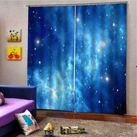 Custom Window Curtain Blackout Living Room Bedroom Curtains fantasy Starry sky Curtains For Children Room Decor