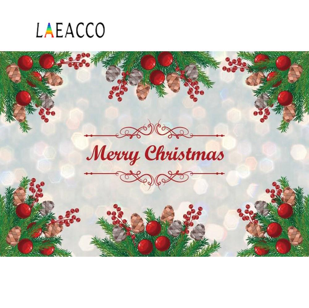 Laeacco Photo Backdrops Merry Christmas Pine Dreamy Polka Dots Child Portrait Photographic Backgrounds Photocall Studio