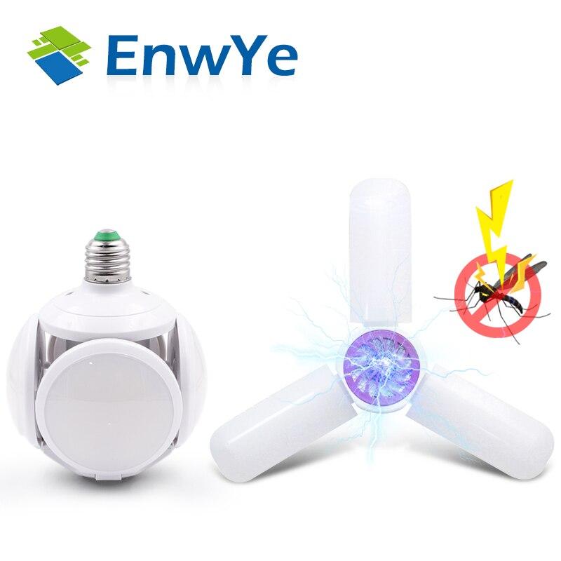 EnwYe Super bright LED folding bulb E27 40W 50W LED light football UFO lamp AC 220V LED Bulb Warehouse garage lights(China)