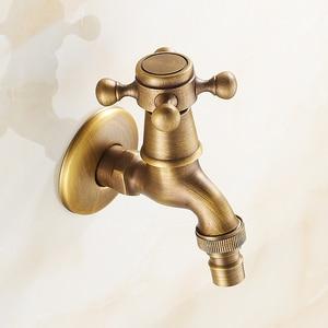 Image 3 - アンティーク真鍮の壁マウントを使用して水栓浴室アクセサリー屋外シンクガーデンタップ装飾洗濯蛇口コック