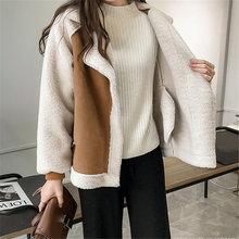 Новое поступление женских зимних Негабаритных Плюшевые куртка