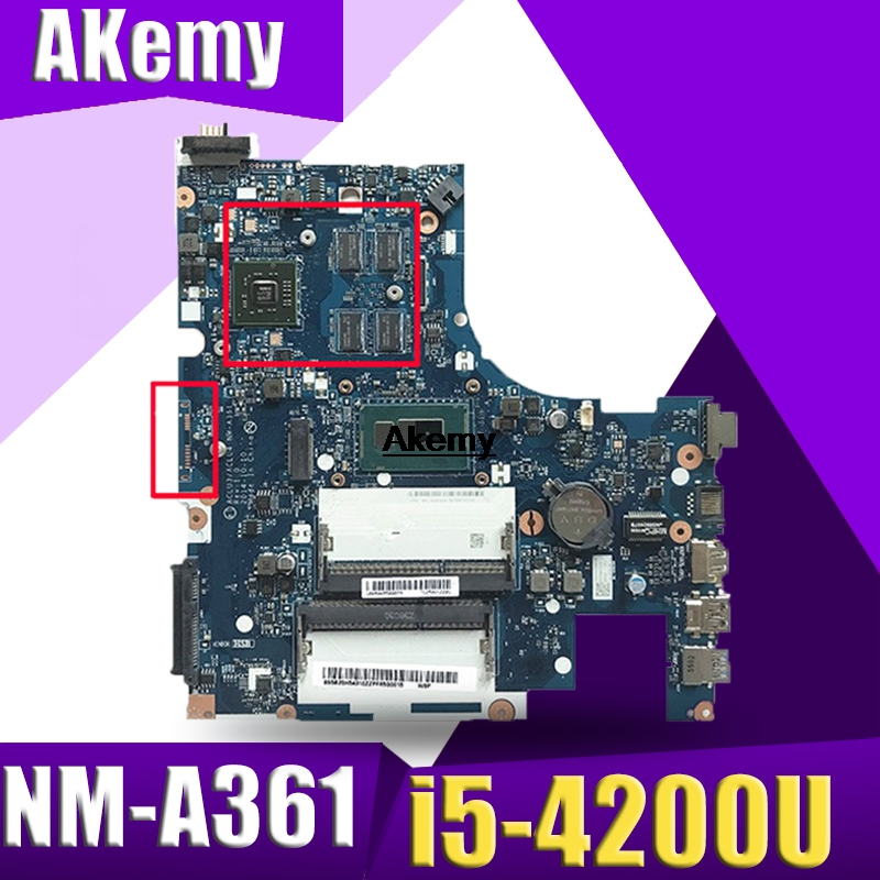 <font><b>NM</b></font>-<font><b>A361</b></font> motherboard for Lenovo G50-80 laptop motherboard G50-80 ACLU3/ACLU4 <font><b>NM</b></font>-<font><b>A361</b></font> I5-4200U R5 GPU original 100% Tested image