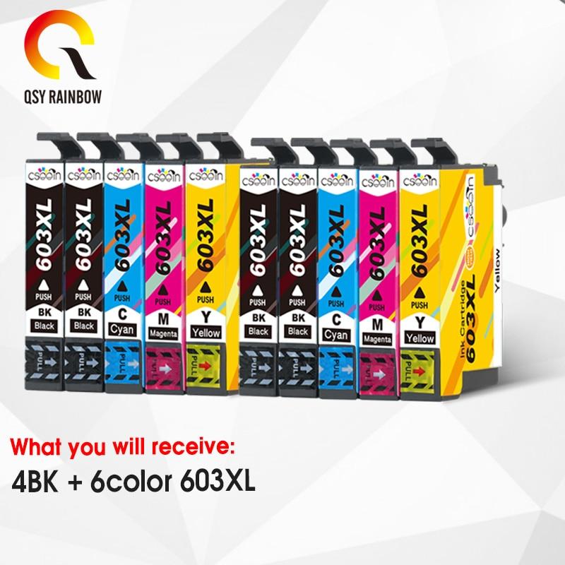 CMYK ใช้งานร่วมกับ T603XL 603XL ตลับหมึกสำหรับ Epson XP-2100 XP-2105 XP-3100 XP-3105 XP-4100 XP-4105 WF-2810 WF-2830 WF-2850