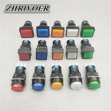 16mm LA16-11 Push Button Switch Self-locking/Latching Self-reset/Momentary 3 Pin NO+NC 1A/250VAC Blue Green Red Yellow White 10pcs white red green blue black yellow panel mount 10mm momentary off on push button switch upper screw thread