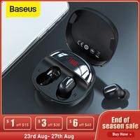 Baseus-auriculares TWS WM01 Plus, inalámbricos por Bluetooth 5,0, auriculares deportivos a prueba de agua con batería y pantalla LED