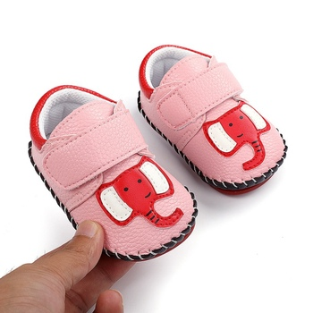 Spring Baby Boy Cute Crib Choes Soft Sole Shoes Newborn Girl Animal Print Non-slip Frist Walking
