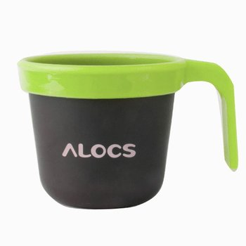 Alocs Camping Hiking Mug Cup Aluminum with PP Handle High Quality New Brand Ultralight Portabel Heatable Outdoor 280ML Plastic