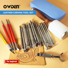 OWDEN Leather Carving Tool Set Hand Sewing Stitching Punch Carving Work Leathercraft Accessories