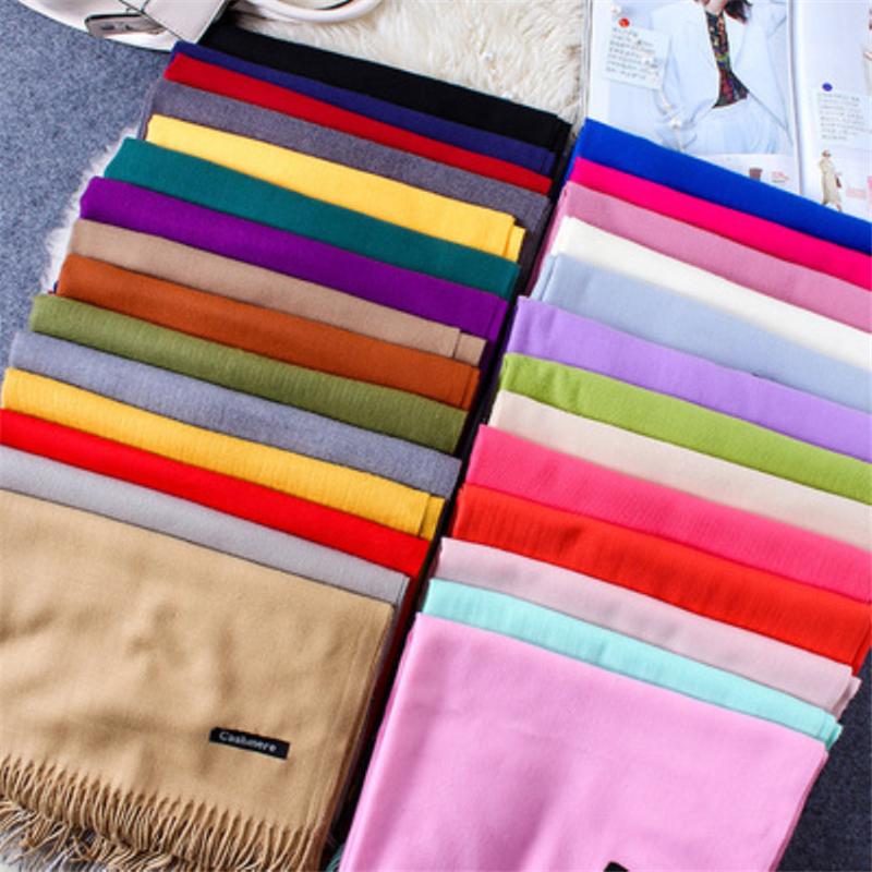 Girita Brand Women's Fashion Scarf Autumn Winter Wool Plaid Women Cashmere Scarves Wide Long Shawl Wrap Blanket Warm Tippet