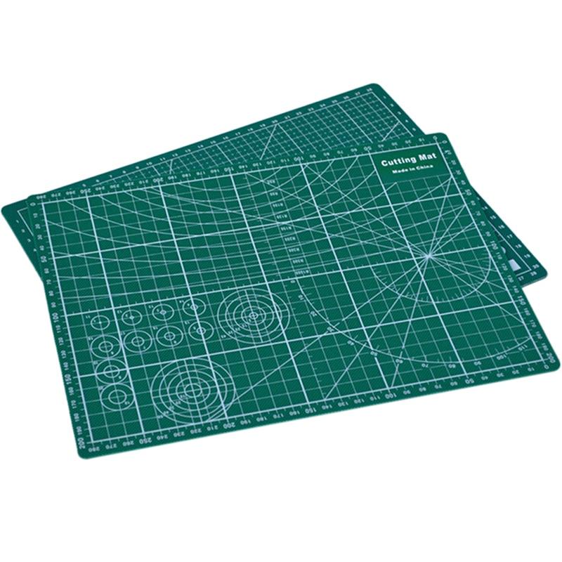 2 Types PVC Cutting Mat Cutting Pad Patchwork Double Printed Self Healing Cutting Mat Craft Quilting Scrapbooking Board 20x30cm
