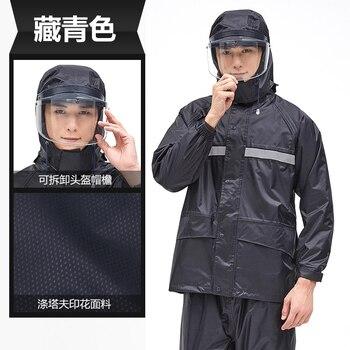 Outdoor Scooter Pants Raincoat Jacket Waterproof Set Men Raincoat Pocket With Hood Capa De Chuva Moto Rain Poncho Men 60YY