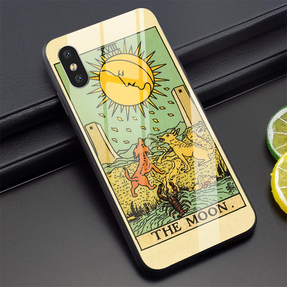 Tarot Card Phone Cover for iPhone 5 Case 6 6S 7 8 Plus Xs Max XR X 11 Pro Tempered Glass
