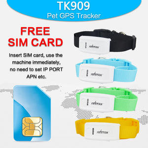 TK909 GPS Tracker tkstar Waterproof Global Locator Collar Tracker Pet Dog Cat Free APP Platform Realtime Car Mini GPS Tracker
