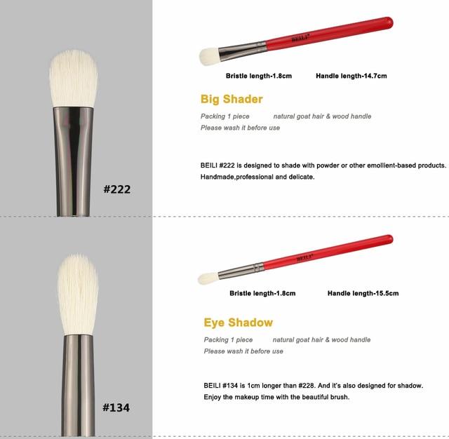 BEILI Makeup Brush 1PCS Professional Natural Hair Eye Shadow Brush Blender Crease Makeup Cosmetics 228/221/222/223/235/134/225 4