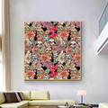 Many Sloths Abstract Animal Plants Canvas Painting Impressionist Poster Print Interior for Living Room Home Decor