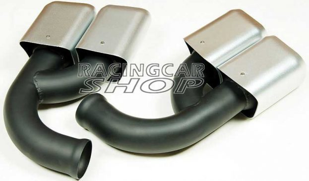 Stainless Steel Exhaust Tip Square Muffler Long Pipe Fit For Porsche Cayenne V6 Pipe 2011-2014 T057W 3