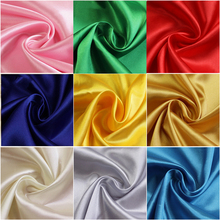 Satin polyester high-end fabric, imitation silk diy handmade clothing gift box lining fabric 50D * 75D solid color sewing cloth
