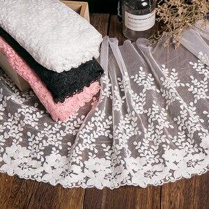 Image 3 - 1 ヤードホワイトレース生地 32 センチメートル幅綿刺繍ミシン用品リボンレース diy 衣服カーテンアクセサリー