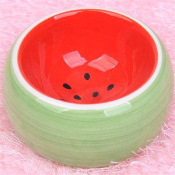 Ceramics Hamster Bowl Food Feeding Prevent Turning Over Drinking Water Round Porcelain Dish Rabbit Squirrel Feeder for Small Pet 1