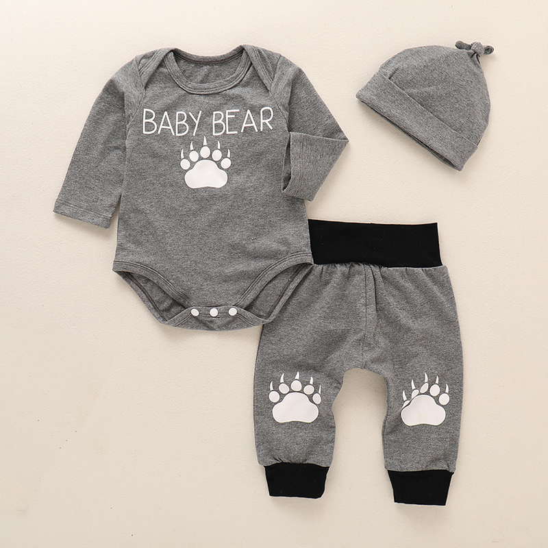 Infant Clothing Baby Suit Baby Boys Clothes Toddler Clothing Set Newborn Clothes Bodysuits Long Sleeve+Pant For 3M-24M D35