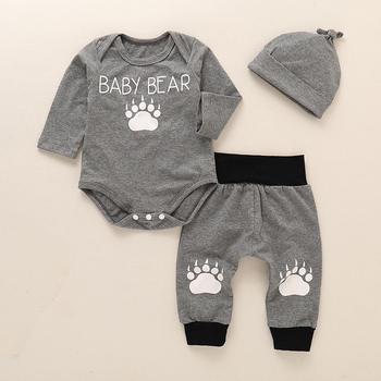 Infant clothing Baby Suit Baby Boys Clothes Toddler Clothing Set Newborn clothes Bodysuits Long Sleeve+Pant For 3M-24M D35 levi s baby boys newborn coulter pant